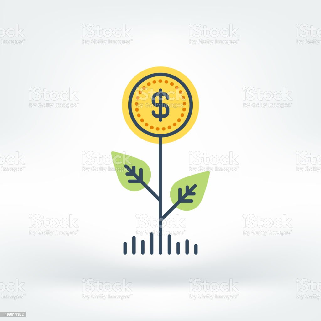 Vector Icon of Funding vector art illustration