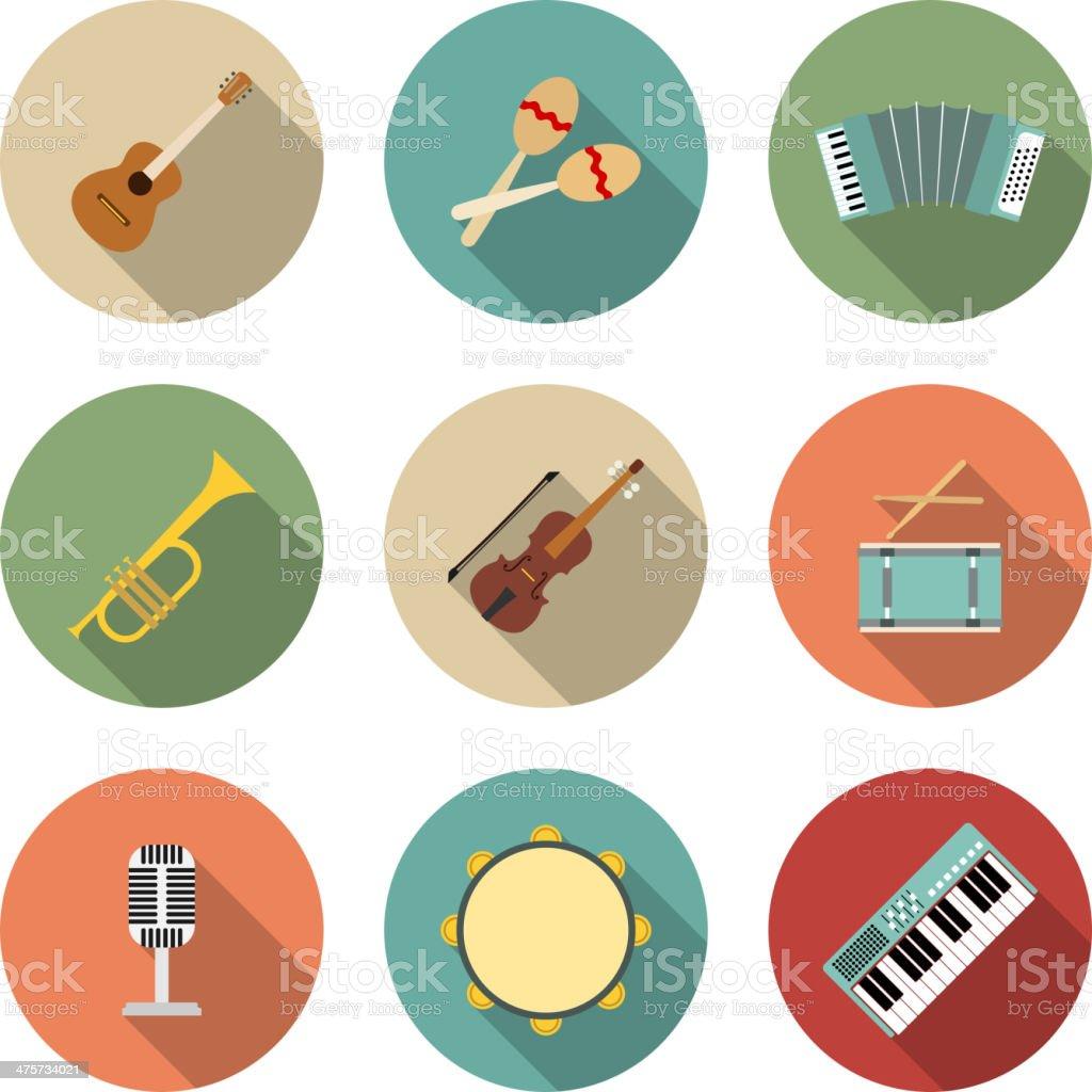Vector icon of musical equipment vector art illustration