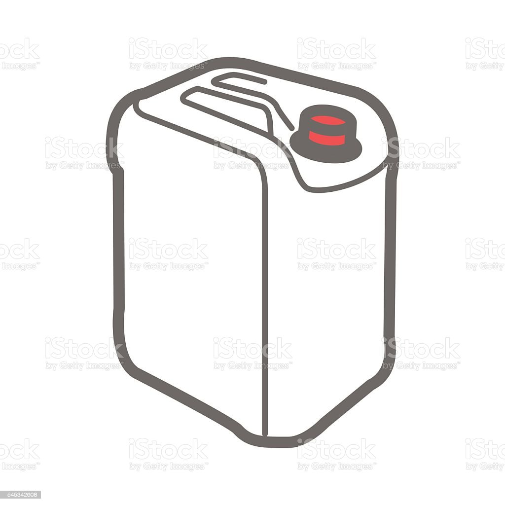 Vector icon of plastic canister vector art illustration
