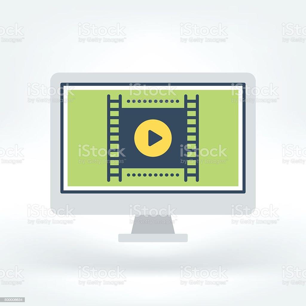 Vector Icon of Presentation vector art illustration