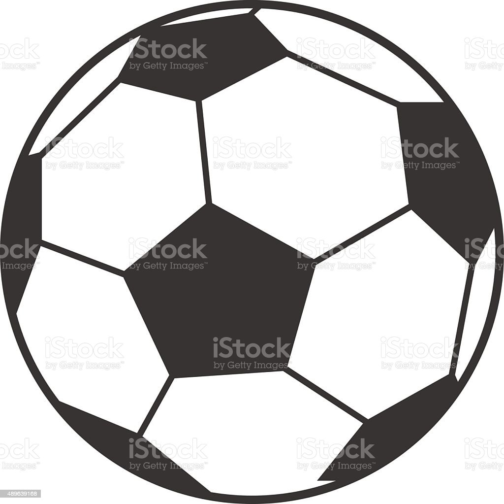 Vector icon of soccer, football ball vector art illustration