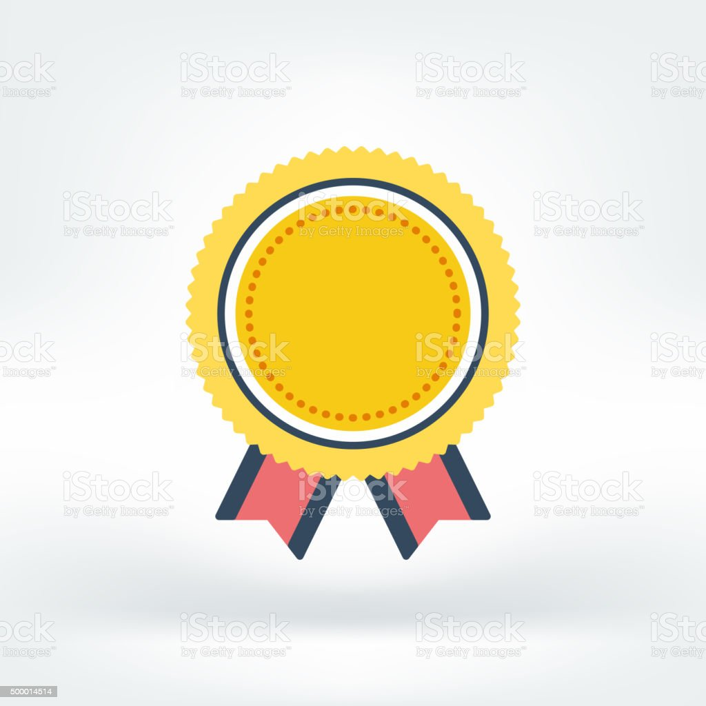 Vector Icon of Success vector art illustration