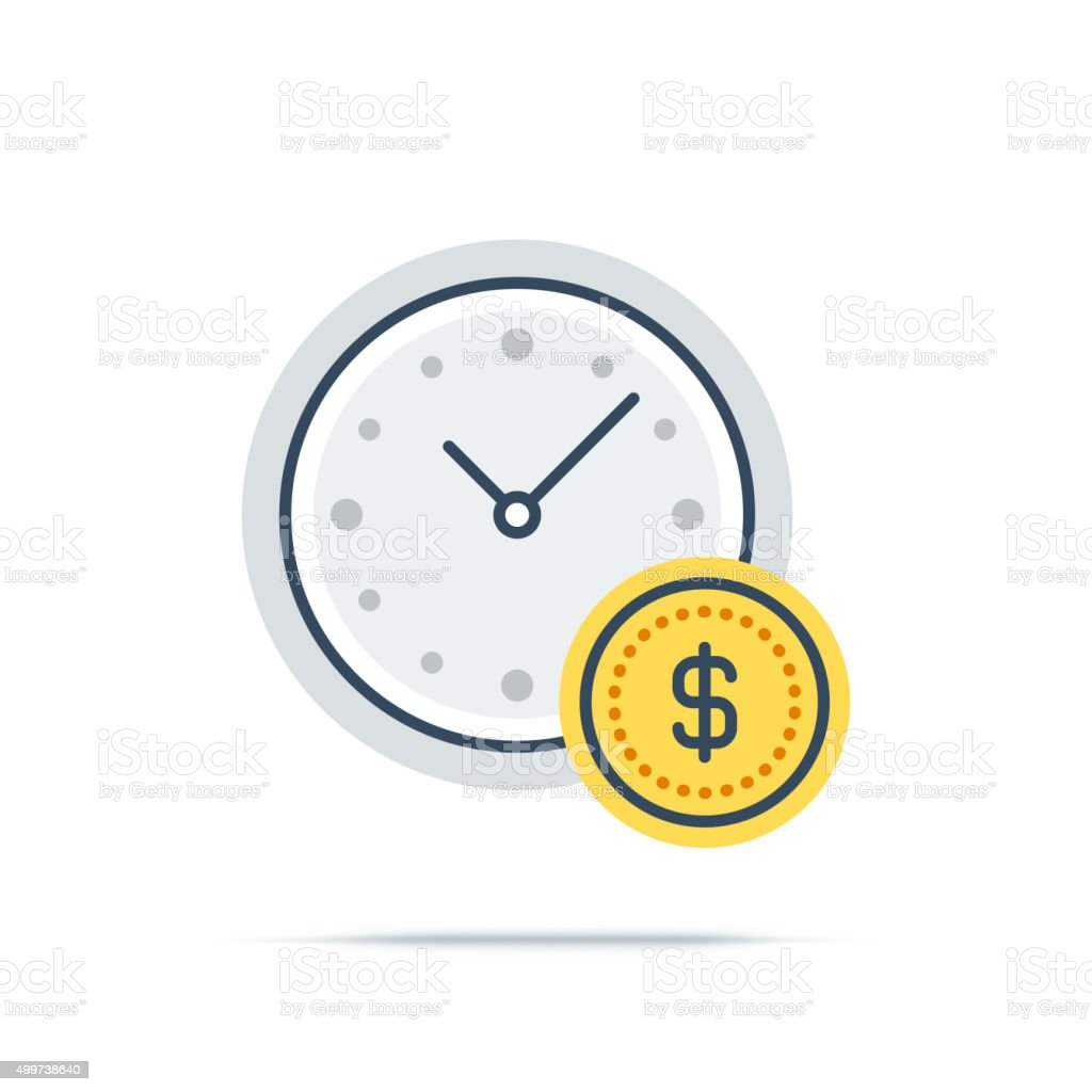 Vector Icon of Time Management vector art illustration