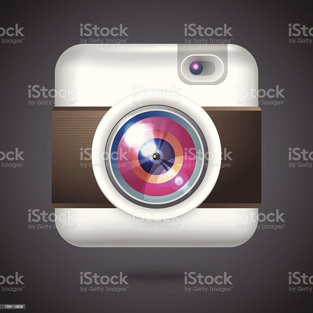 Vector icon of vintage photo camera royalty-free stock vector art