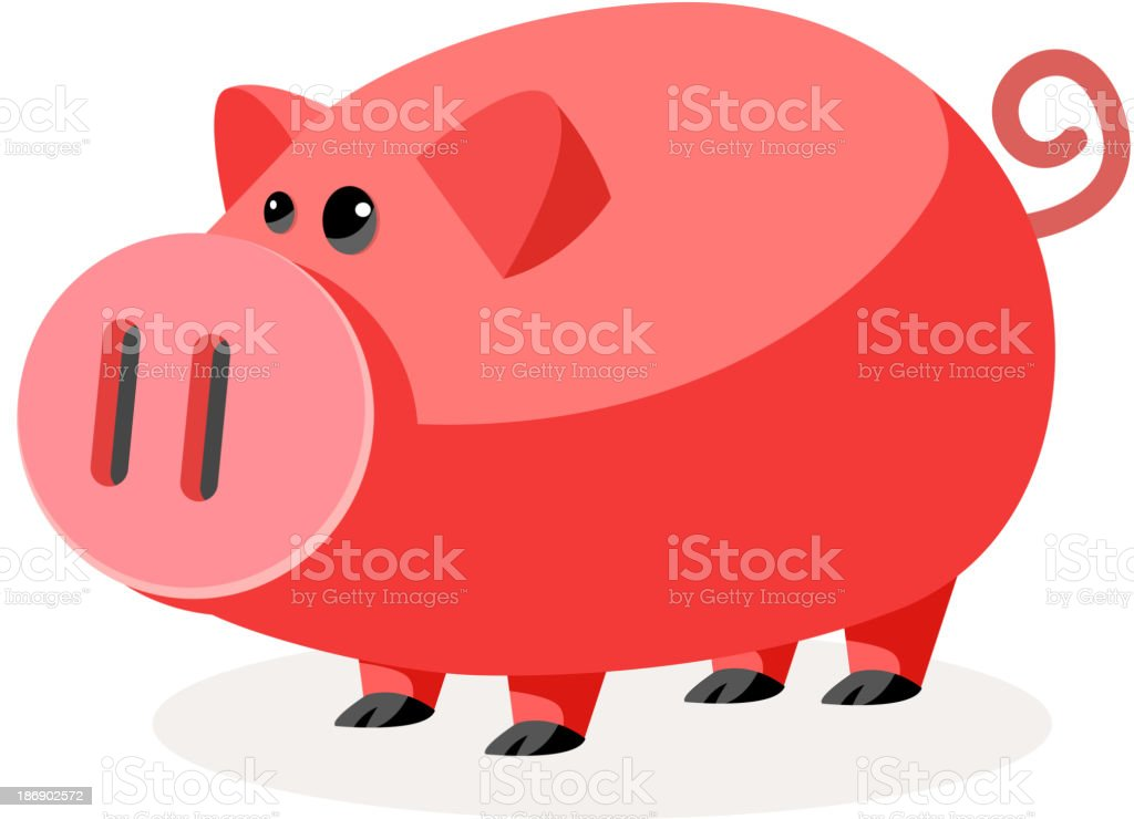 vector icon pig royalty-free stock vector art