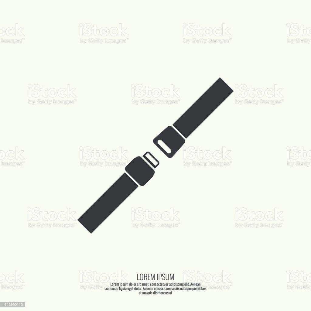 Vector icon safety belt. vector art illustration