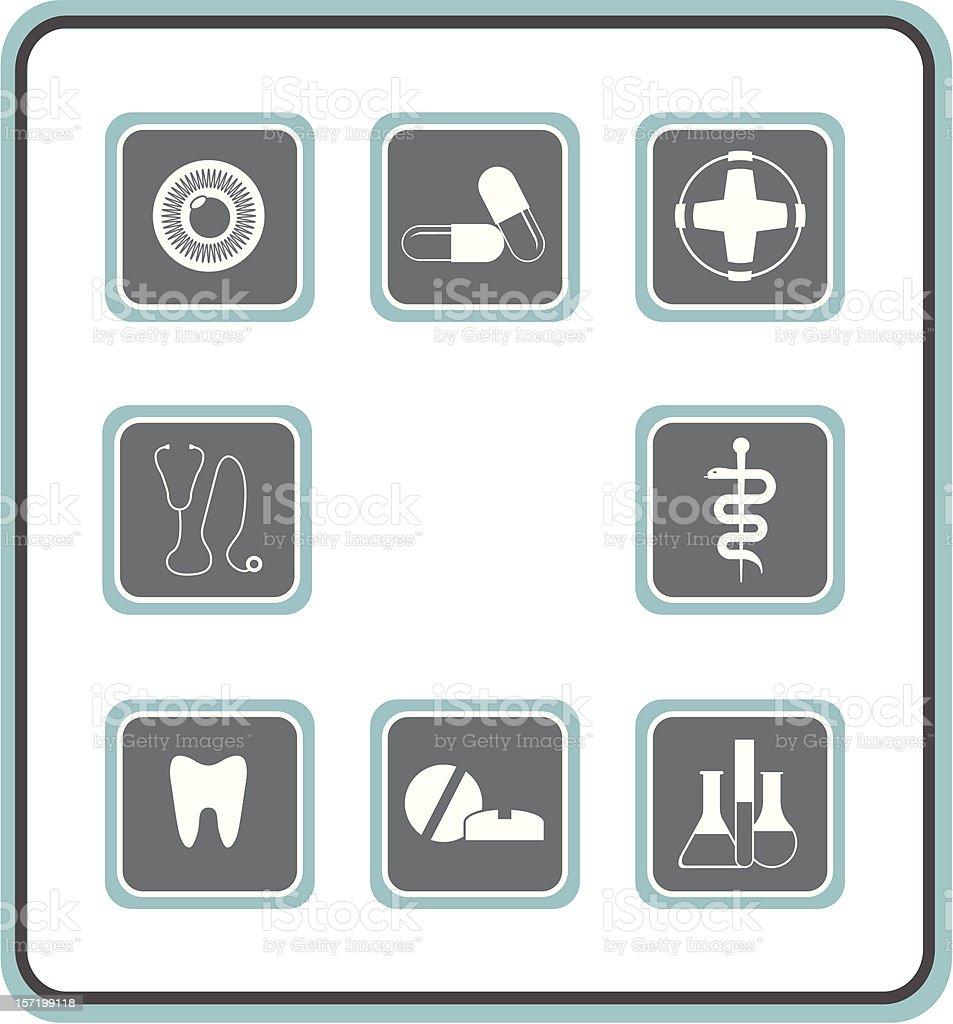 vector icon set 08: medical royalty-free stock vector art