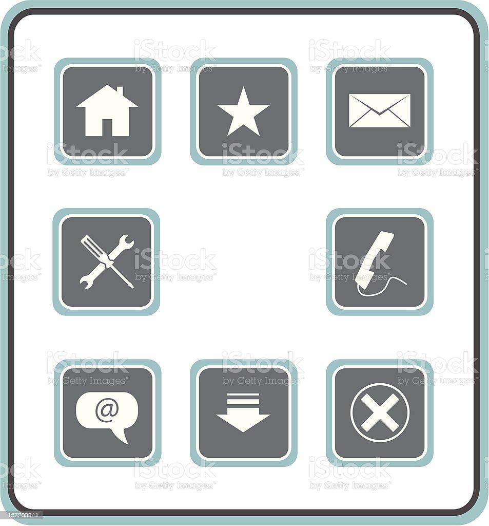 vector icon set 10: web 2 royalty-free stock vector art