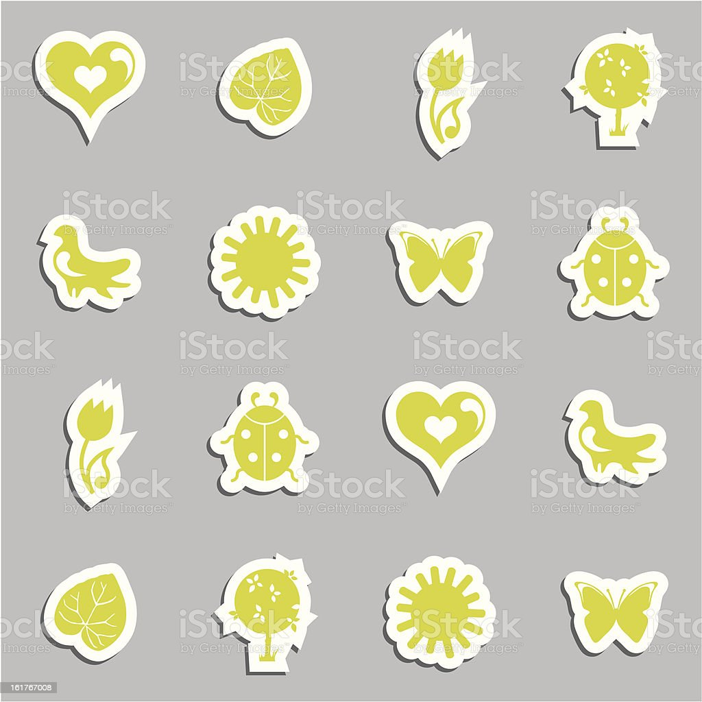 Vector icon Set royalty-free stock vector art