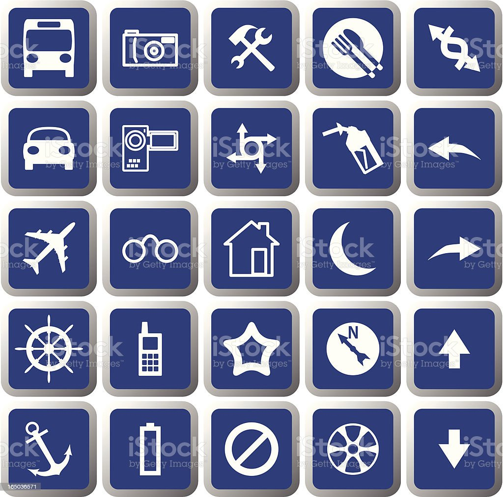 Vector icon set #003 royalty-free stock vector art