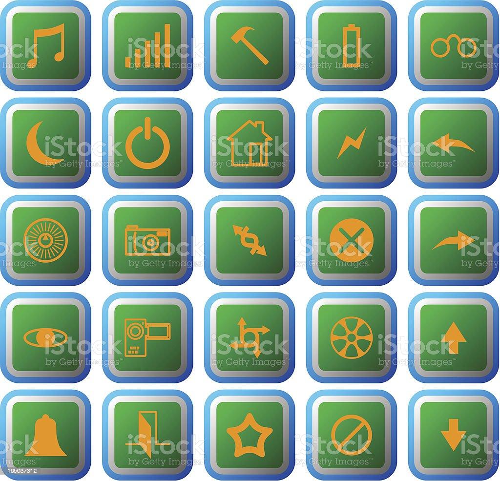 Vector icon set #001 royalty-free stock vector art