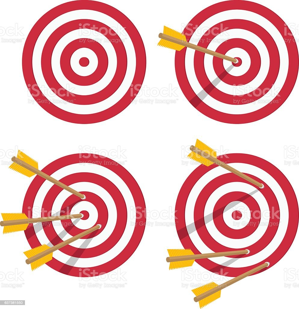 Vector icon target set. vector art illustration
