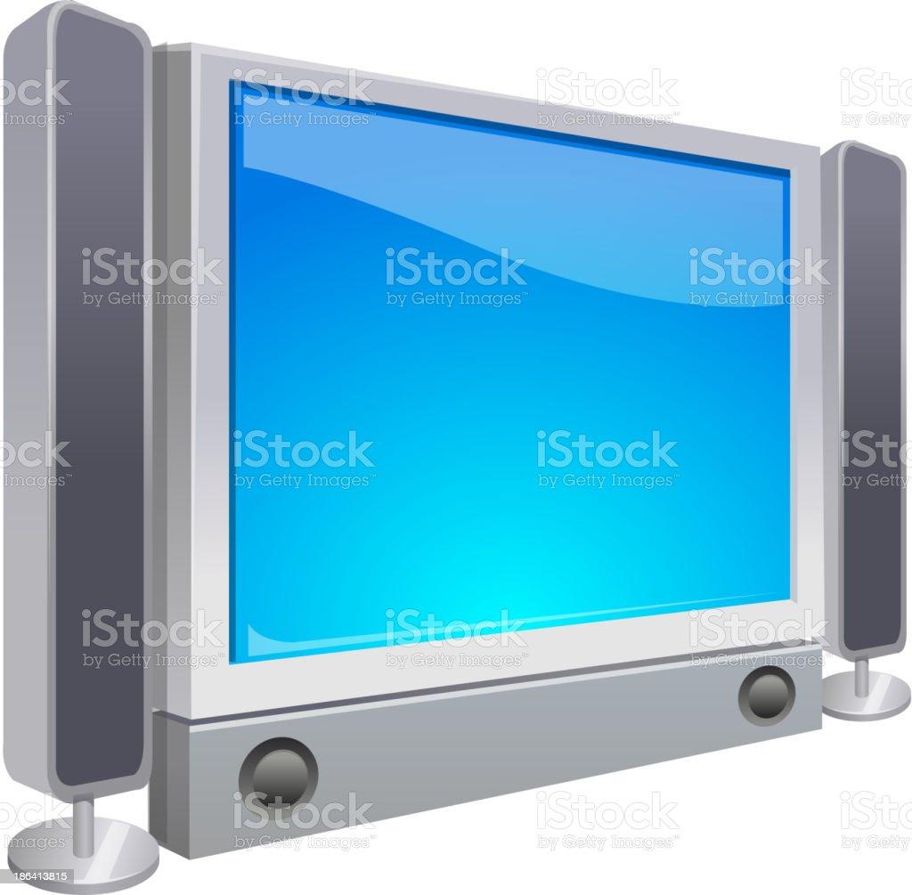 vector icon television vector art illustration