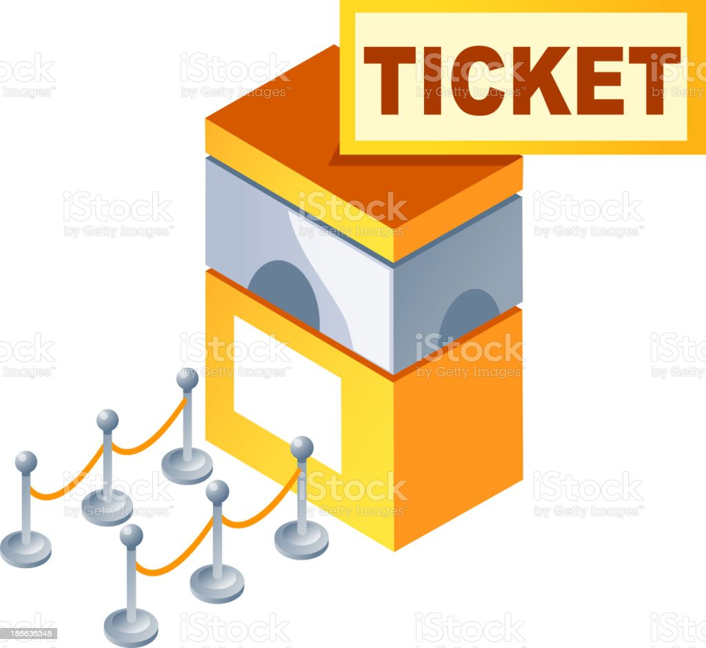 vector icon ticket box vector art illustration