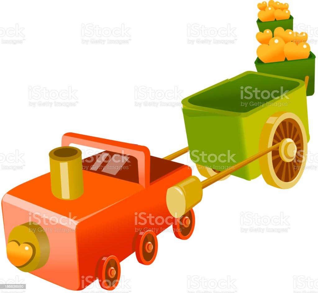 vector icon toy train royalty-free stock vector art