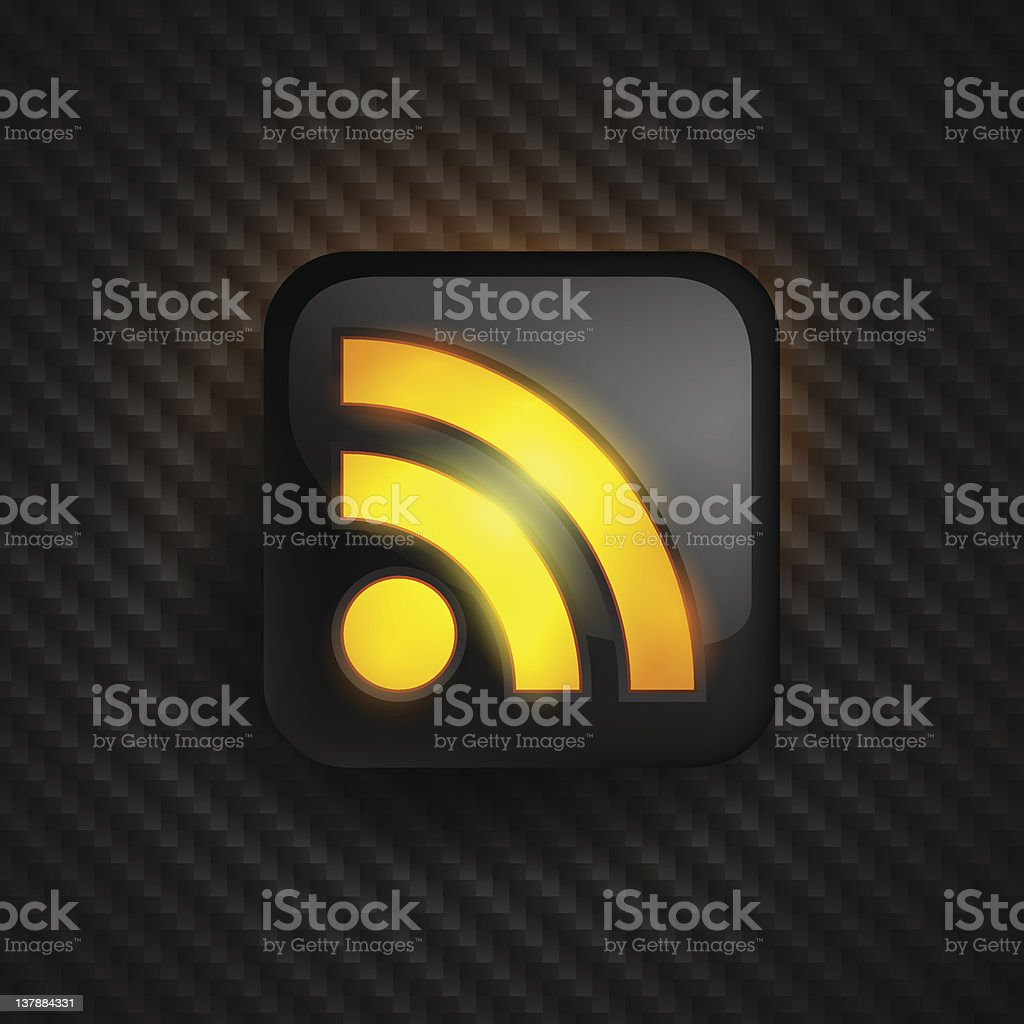 RSS vector icon royalty-free stock vector art