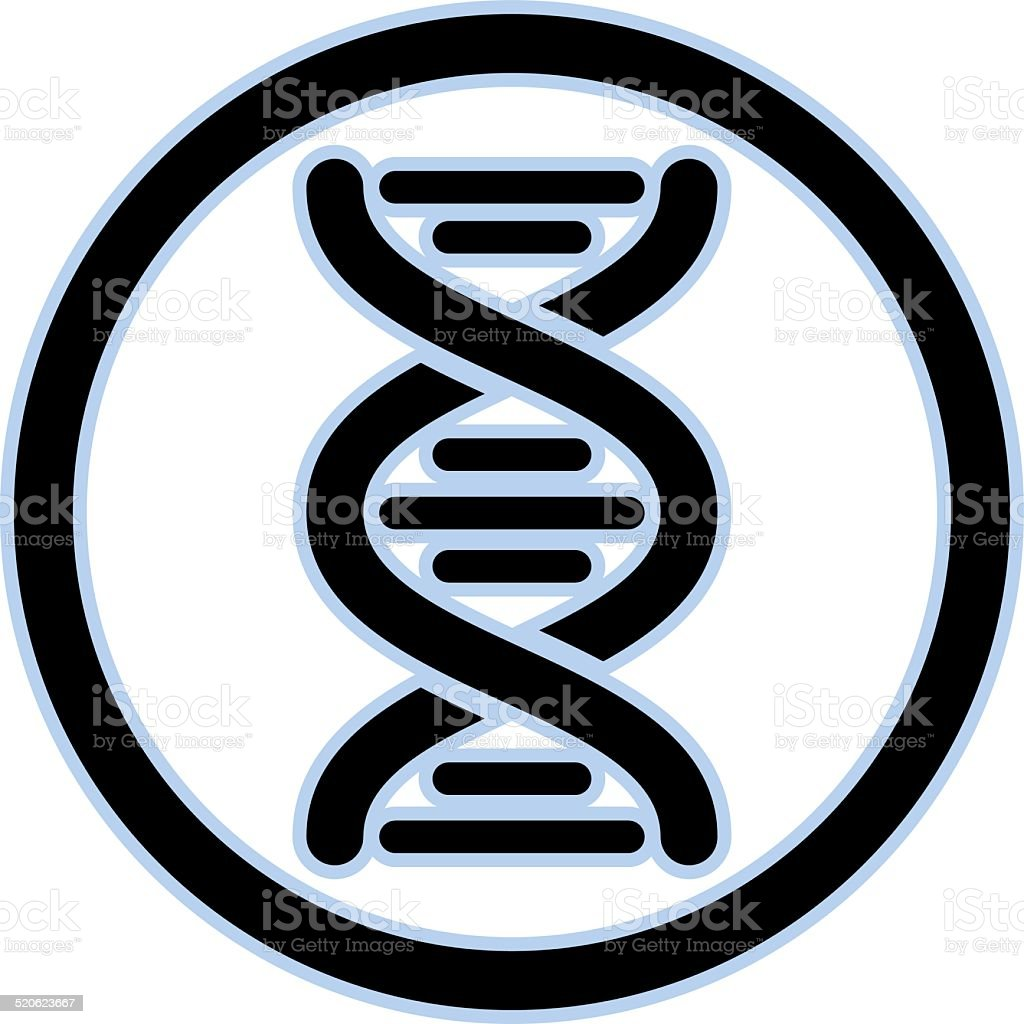 DNA vector icon. vector art illustration