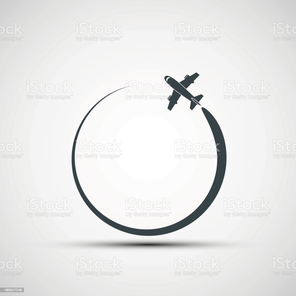 Vector icons aircraft vector art illustration