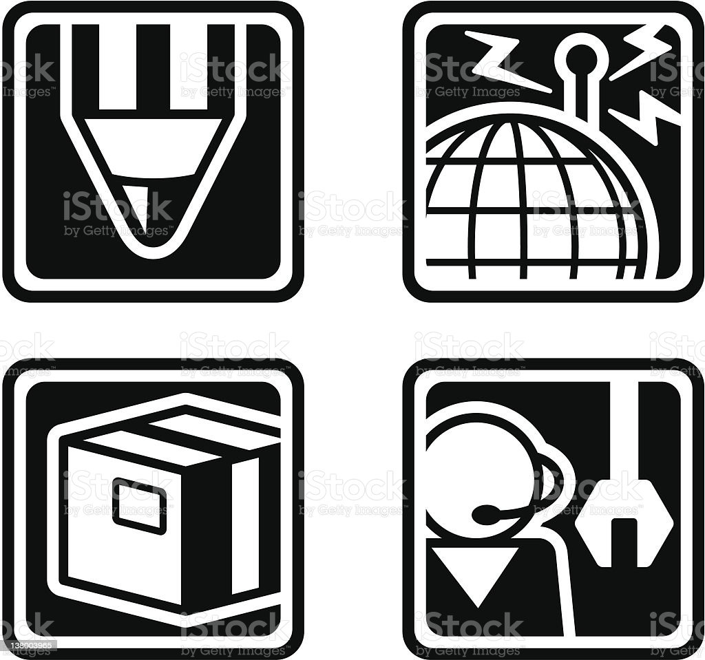 Vector icons - Basic Icon royalty-free stock vector art