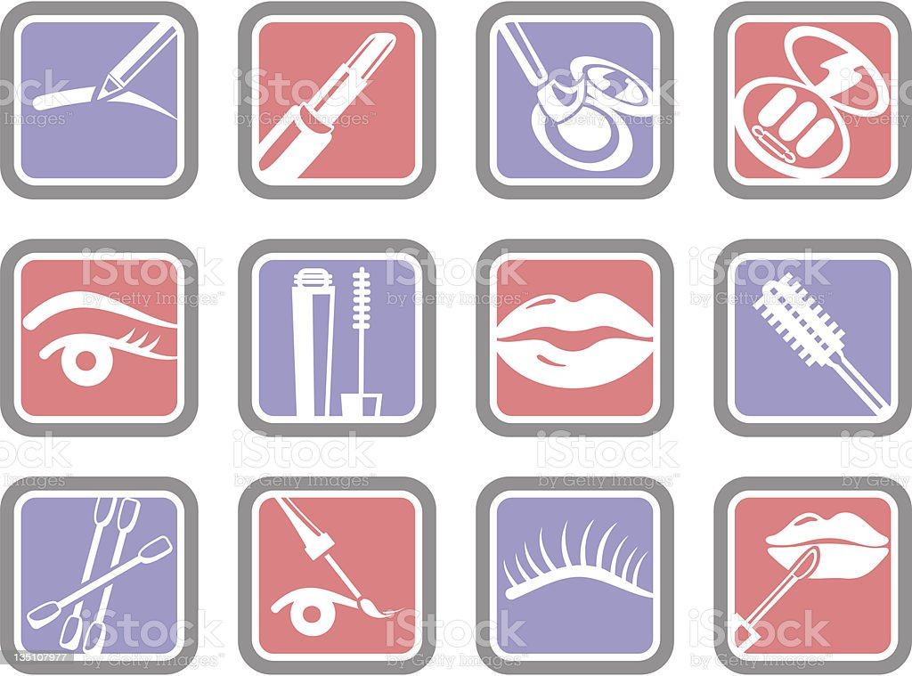 Vector Icons: Cosmetics royalty-free stock vector art