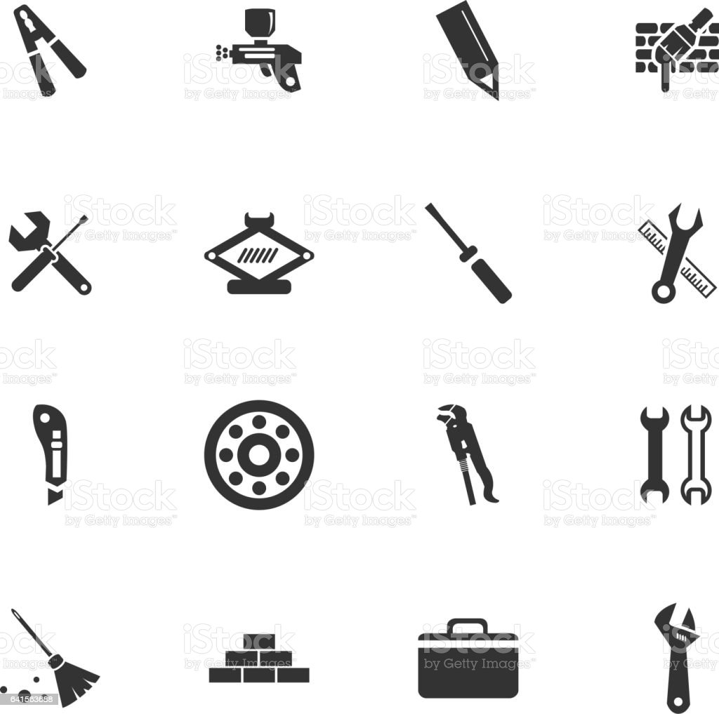 vector icons for user interface design vector art illustration