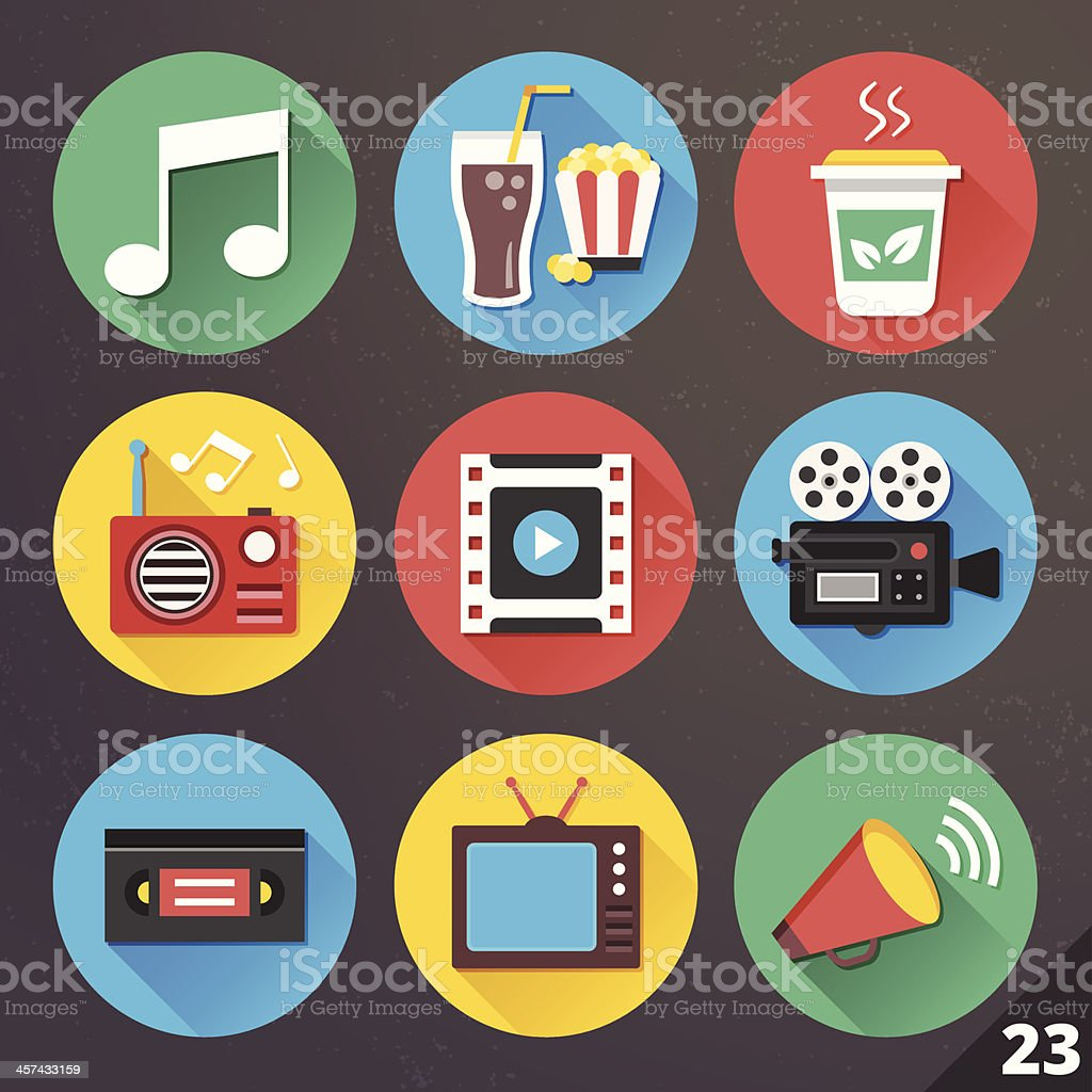 Vector Icons for Web and Mobile Applications. Set 23. vector art illustration