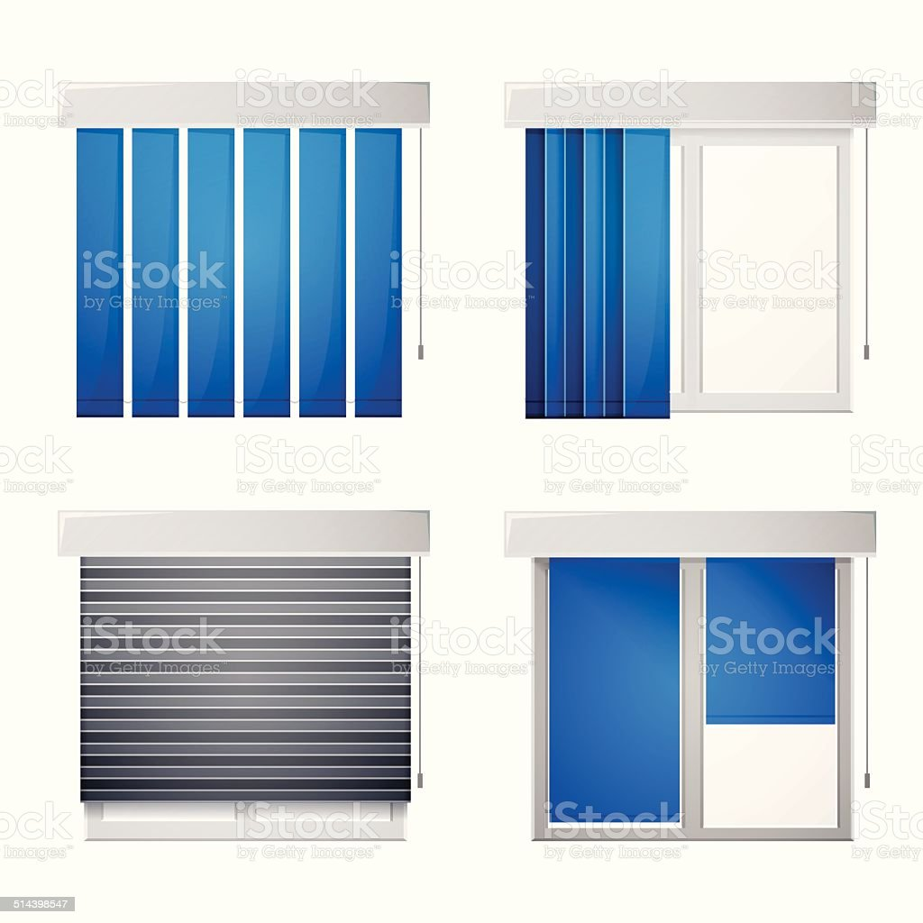 Vector icons for window louvers vector art illustration