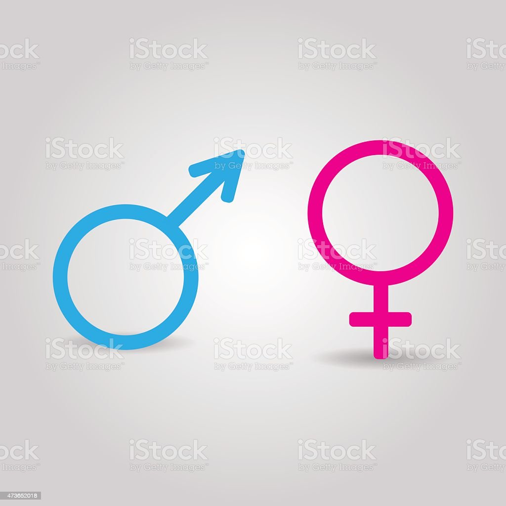Vector icons of  male and female symbols isolated vector art illustration