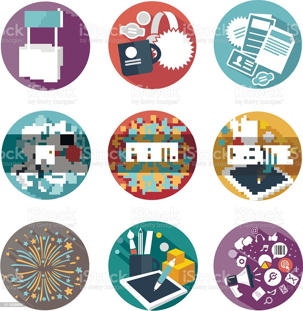 vector icons vector art illustration