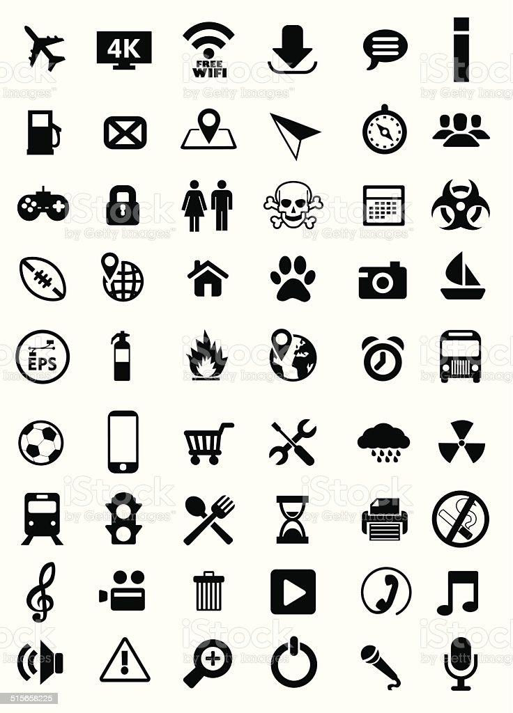 Vector icônes stock vecteur libres de droits libre de droits