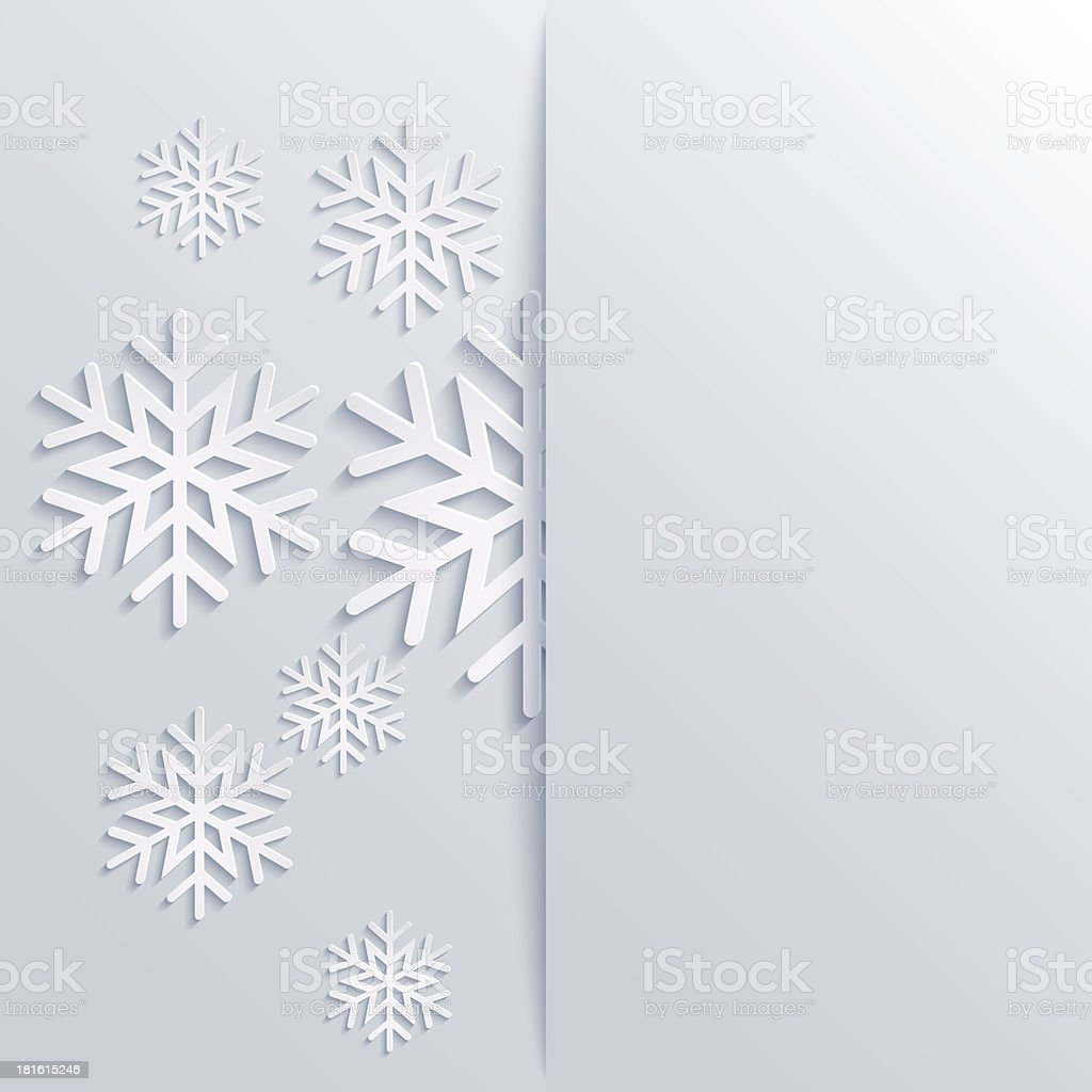 Vector illustration abstract Christmas Background with snowflakes royalty-free stock vector art