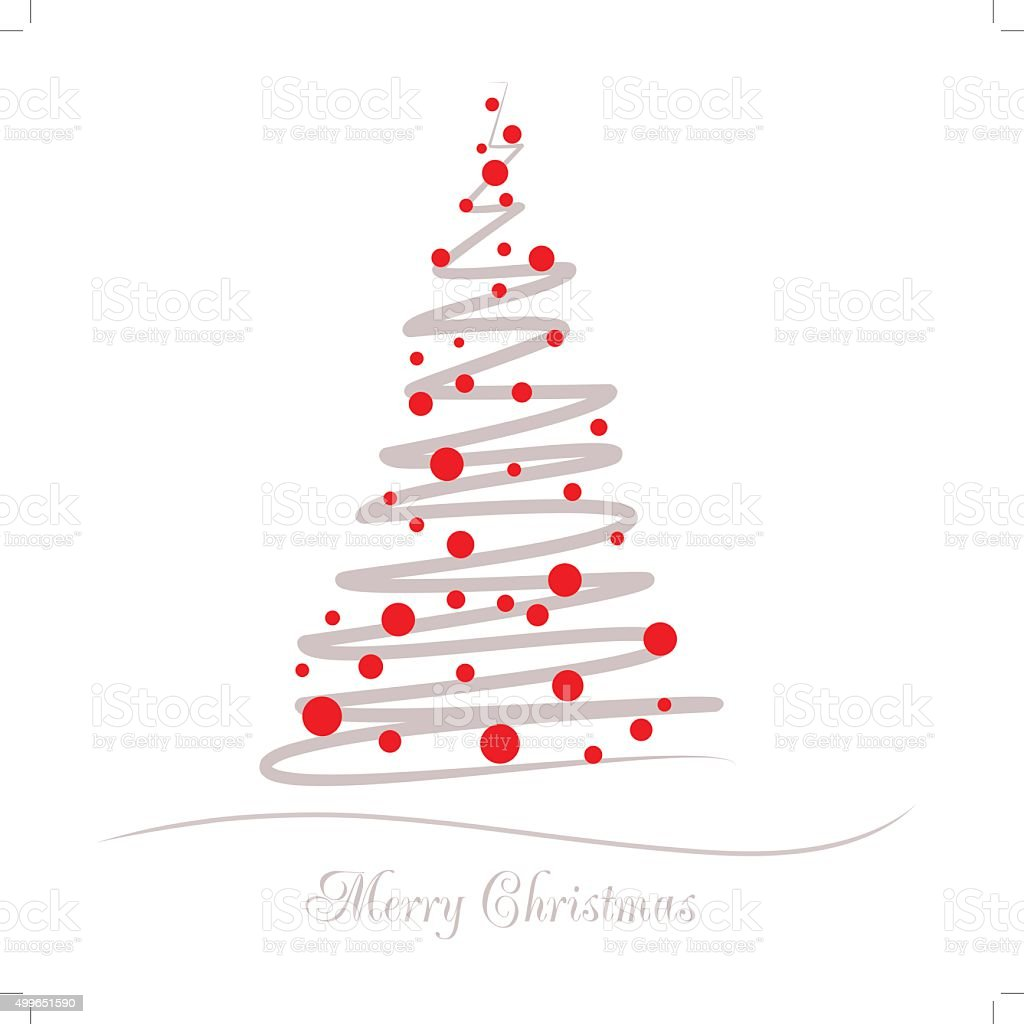 Vector illustration abstract Christmas Tree vector art illustration