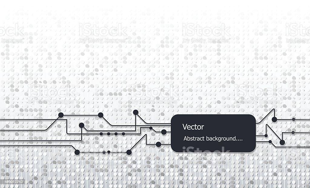 Vector illustration Abstract Gray Technology Background vector art illustration