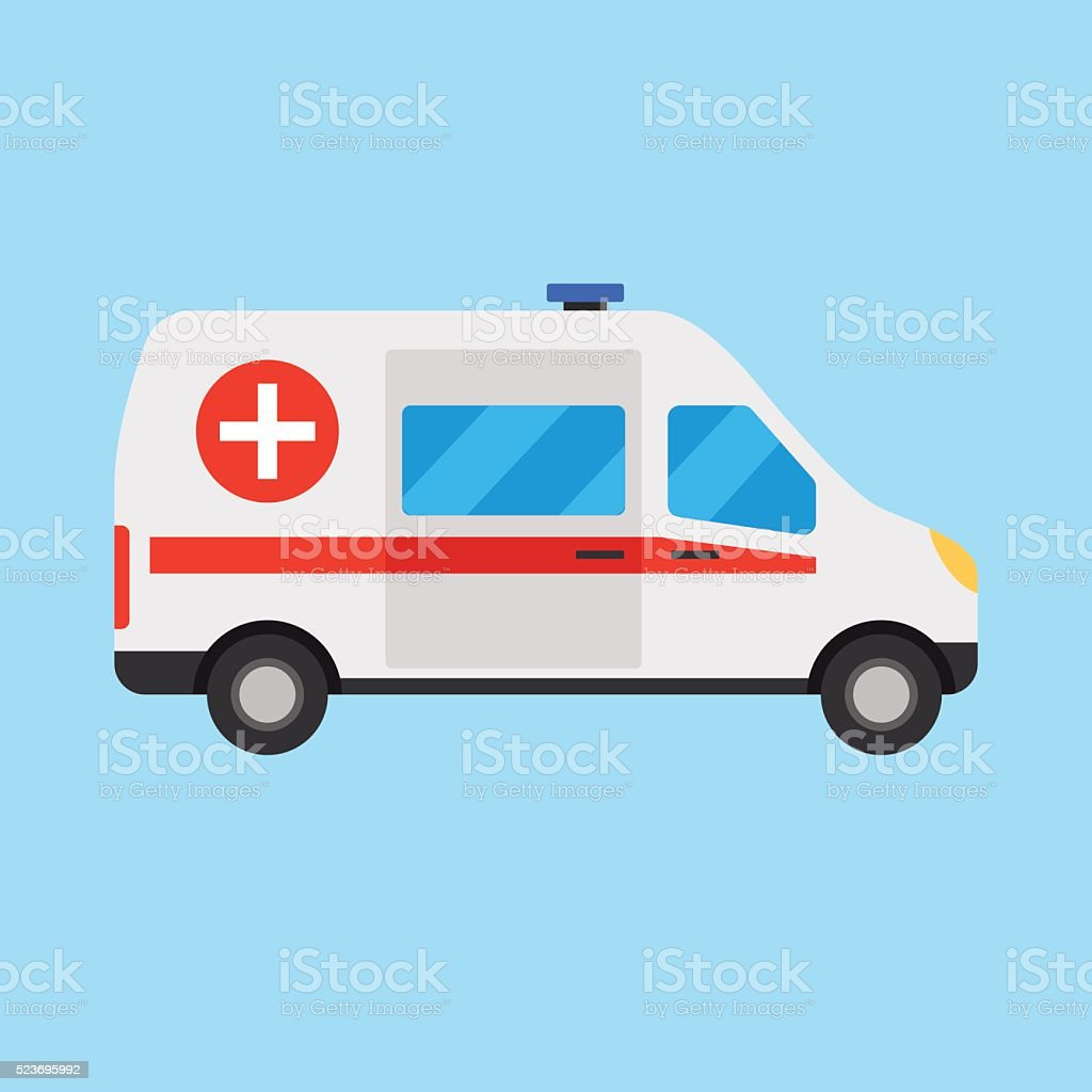 Vector illustration ambulance car vector art illustration