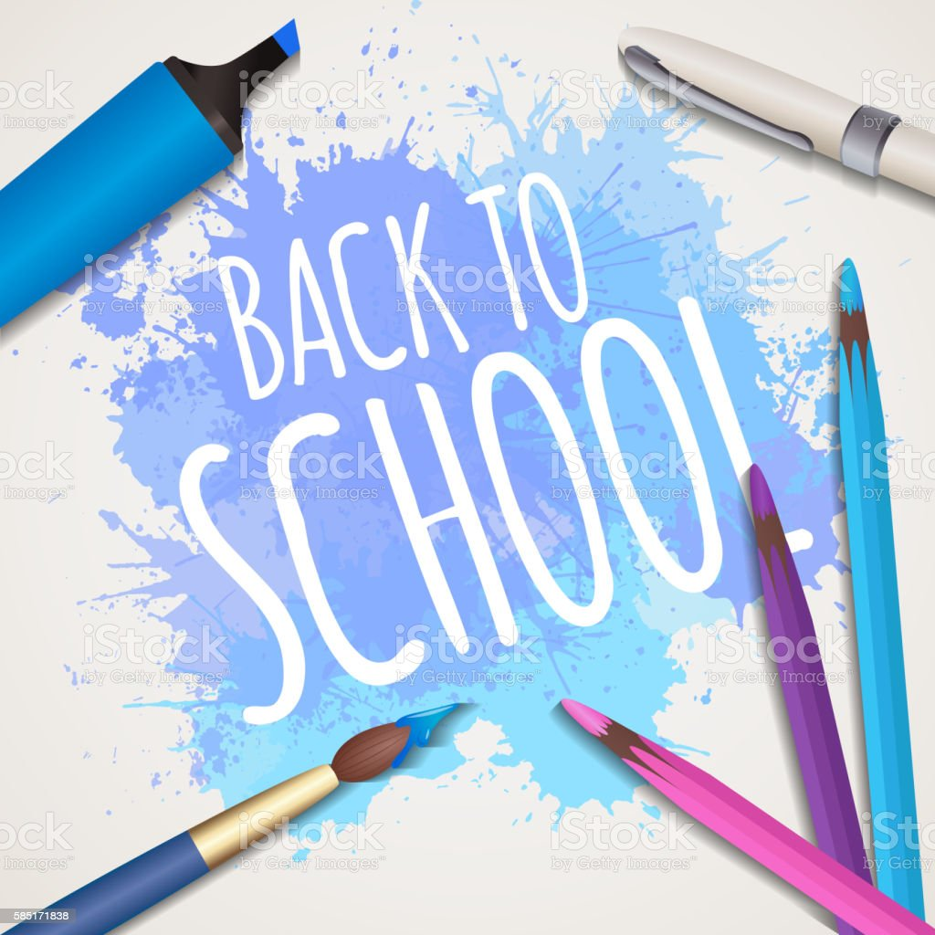 Vector illustration back to school vector art illustration