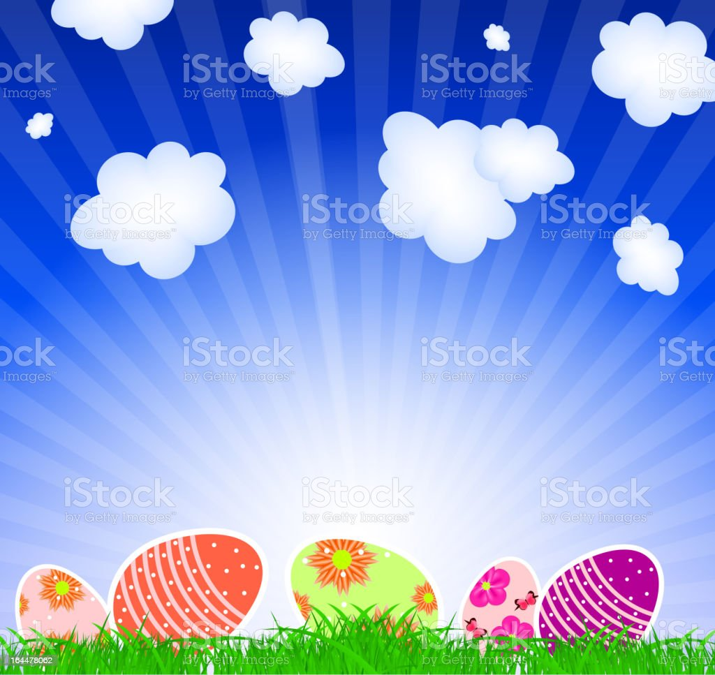 Vector illustration background with  easter eggs royalty-free stock vector art