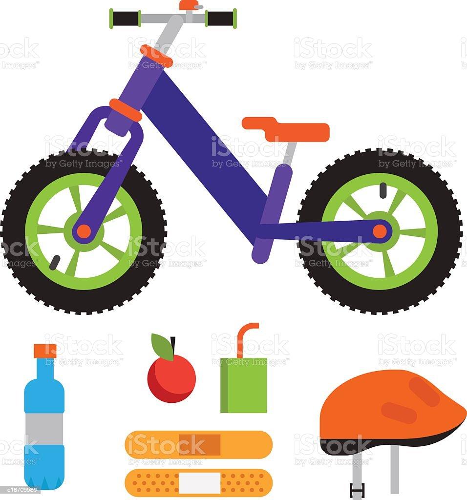 Vector illustration balance bike vector art illustration