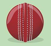 Vector illustration. Ball for cricket.