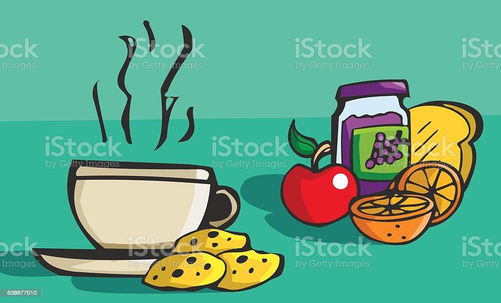 Vector illustration breakfast vector art illustration