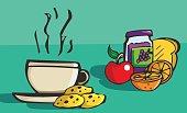 Vector illustration breakfast