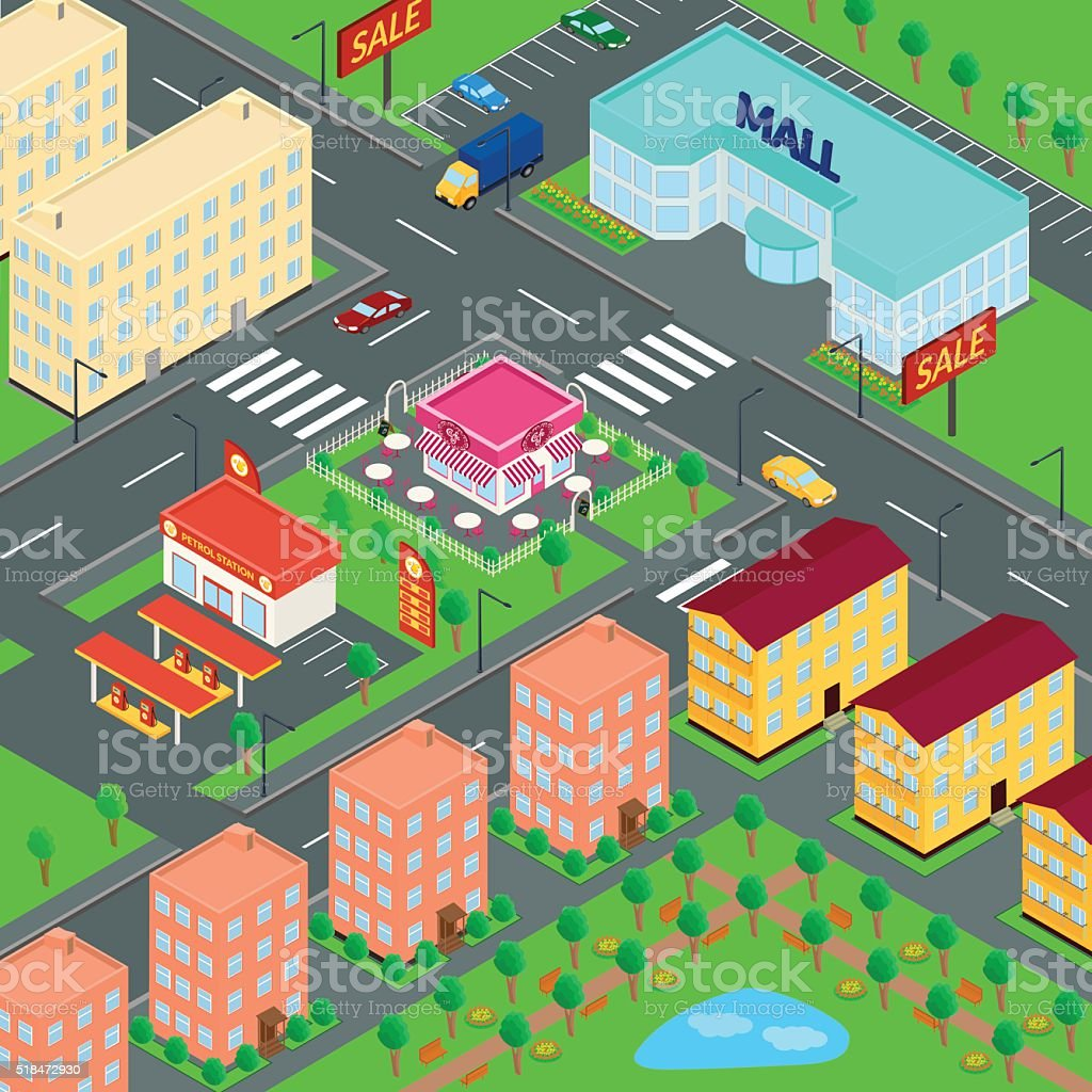 vector illustration. City vector art illustration