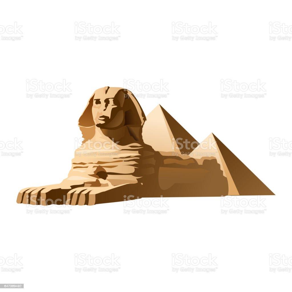 Vector illustration Egyptian sphinx vector art illustration