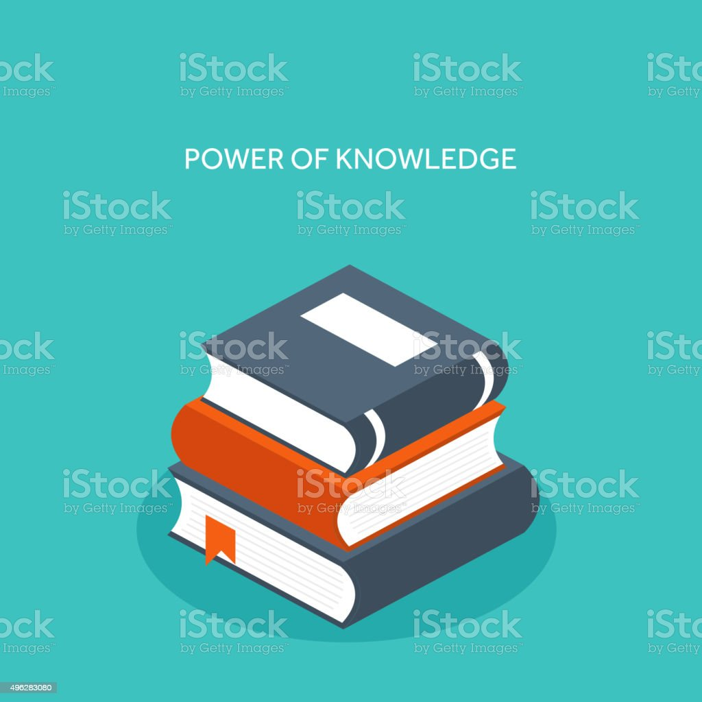 Vector illustration. Flat books. Education and study vector art illustration