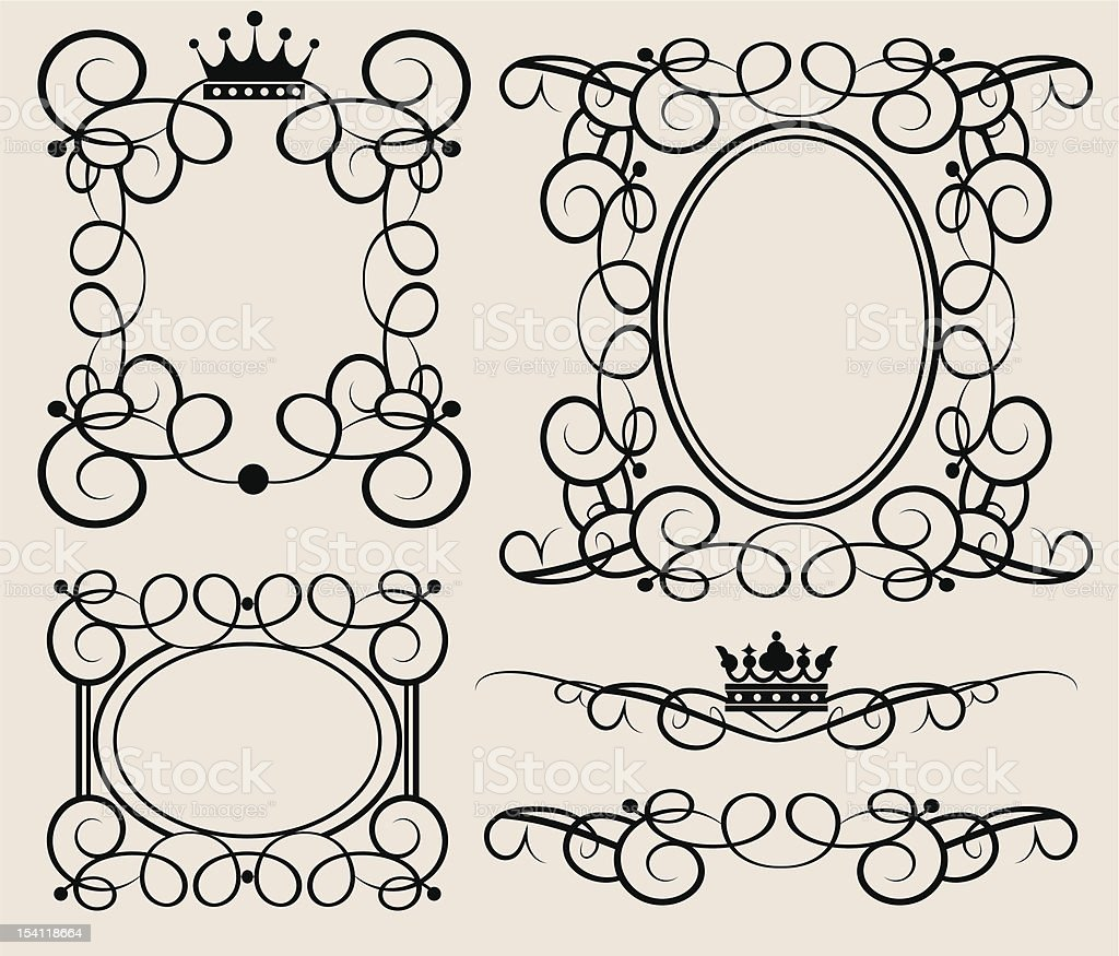 Vector illustration frames and banners for design royalty-free stock vector art