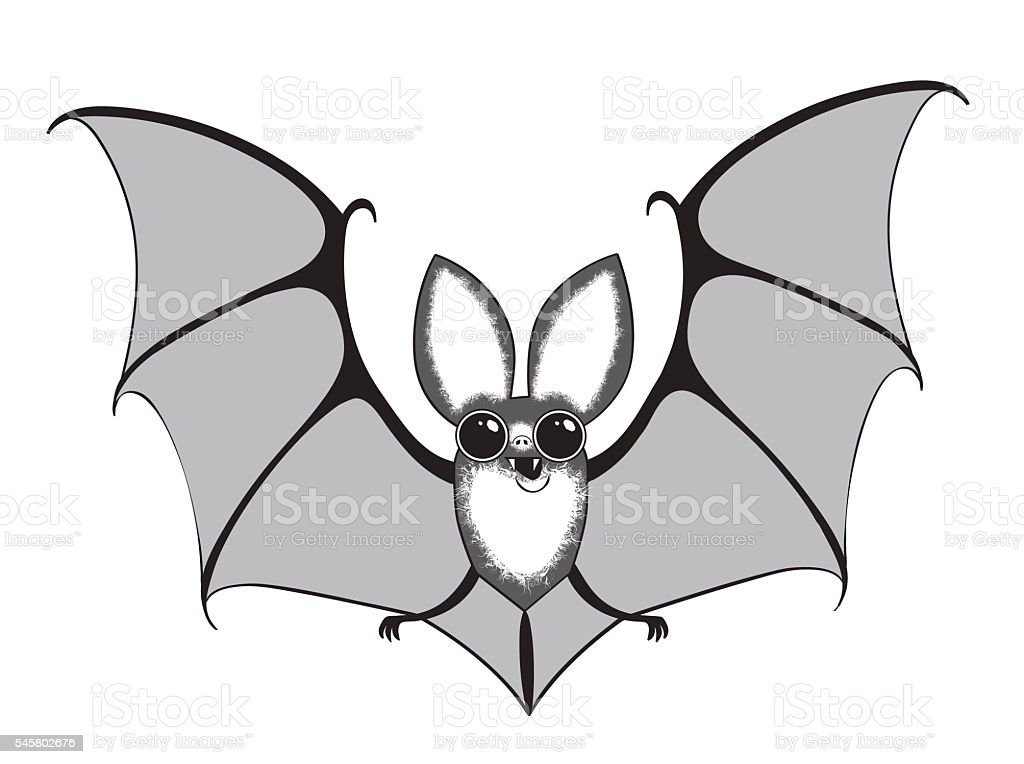 vector illustration funny bat vector art illustration