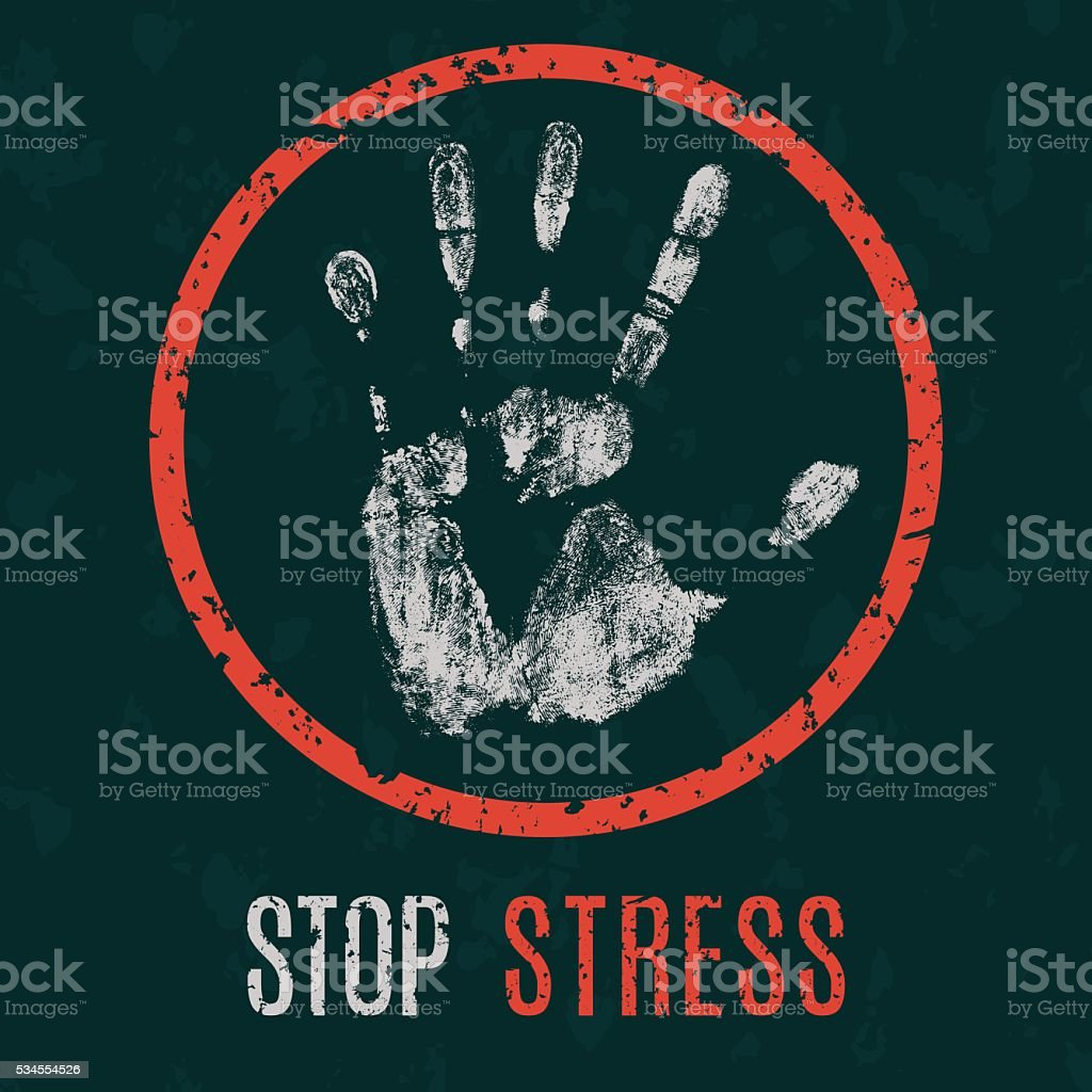 vector illustration. Global problems of humanity. stop stress vector art illustration