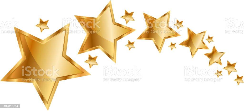 Vector illustration gold stars vector art illustration