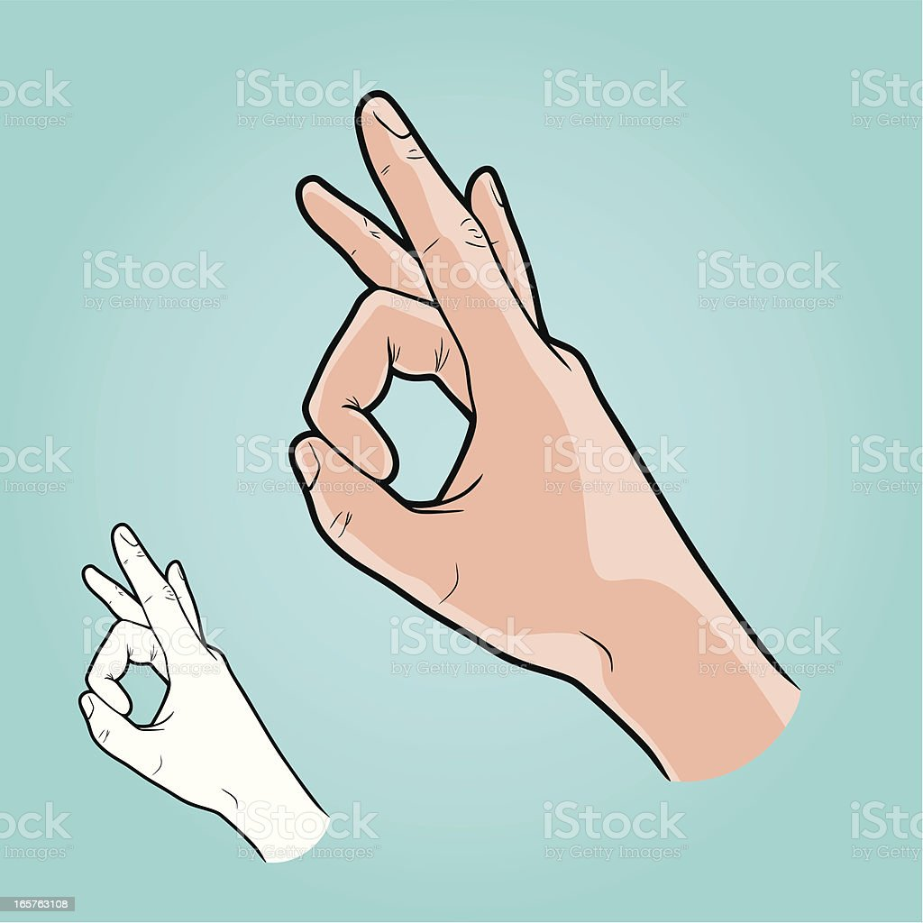 Vector illustration - hand making Flicking Sign vector art illustration