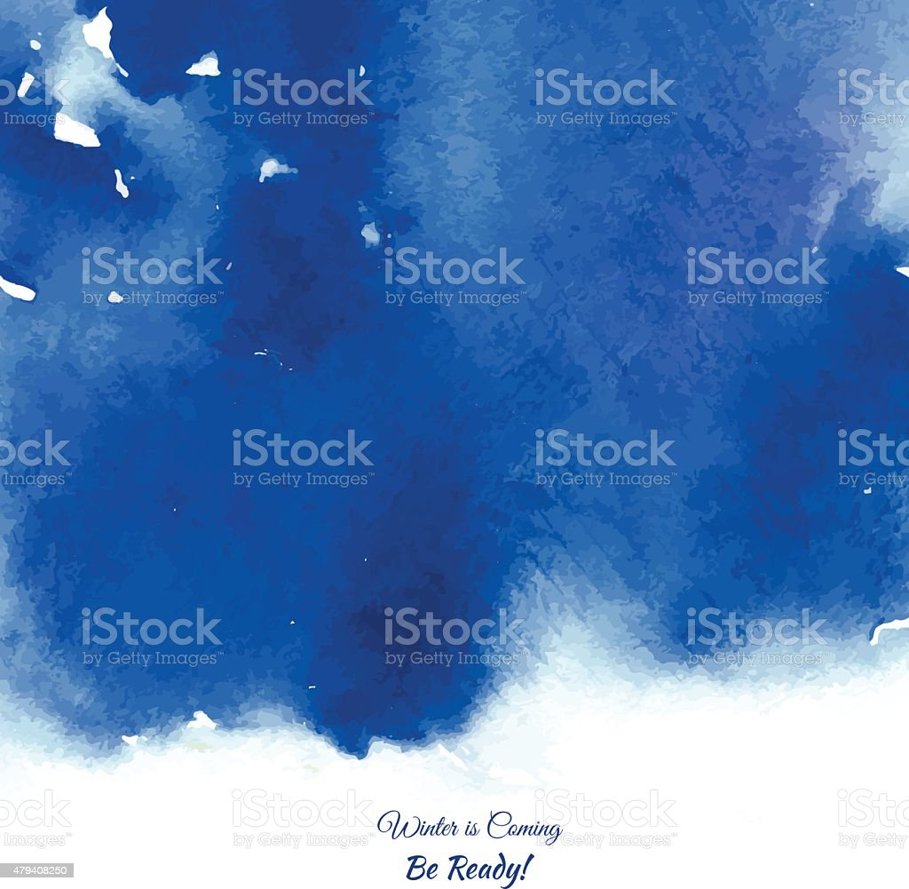Vector Illustration. Hand painted blue watercolor background. vector art illustration