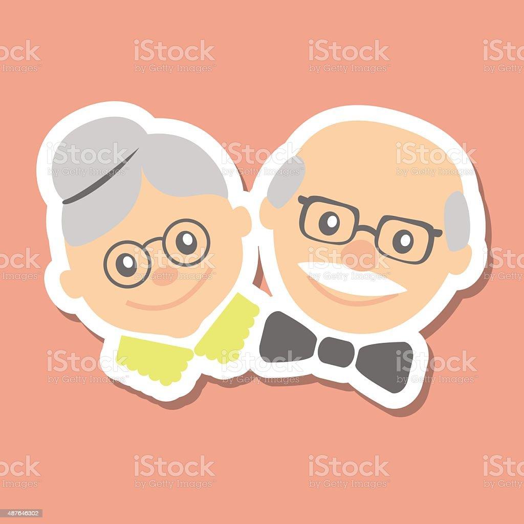 Vector illustration. Happy grandparents day. vector art illustration